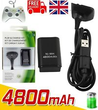 4800mAh Rechargeable Battery USB Charger Cable Pack for XBox 360 Controller