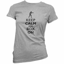 keep calm and Caja on - Mujer / Camiseta Mujer - Bóxer - Boxeo - 11 Colores