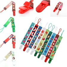 New Baby Pacifier Clip Chain Ribbon Holder Spirius Soother Pacifier Clips Strap