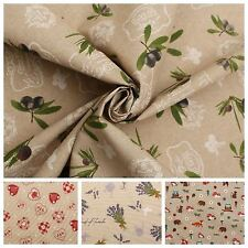 TEFLON OILCLOTH WATER RESISTANT TABLECLOTH LINEN OUTDOOR UPHOLSTERY FABRIC