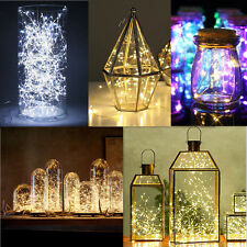 2/5/10M Button Battery Operated LED Copper Wire String Fairy Lights NEW CS