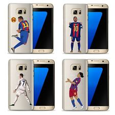 Footballer Clear Soft Case Cover for Samsung Galaxy S8 S8 Plus S6 S7 Edge Case