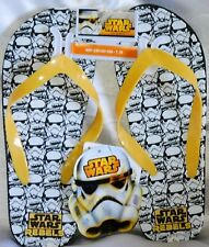 Star Wars Rebeldes Zapatillas Baño Chanclas Sandalias Negro Blanco Amarillo 28-