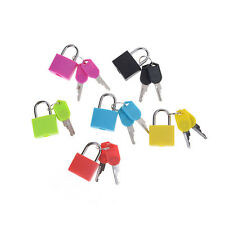Hot sale Small Mini Strong Steel Padlock Travel Tiny Suitcase Lock with 2 Keys H