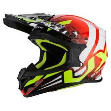 SCORPION vx-21 Air XAGON MOTOCICLETA CASCO CROSS - NEON ROJO BLANCO