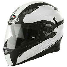 AIROH MOVEMENT Lejos MOTO CASCO INTEGRAL termoplástico - Brillante Negro Blanco