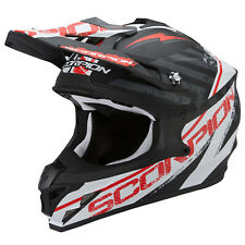 SCORPION vx-15 EVO AIR GAMA MOTOCICLETA CASCO CROSS - Mate Negro Blanco Rojo