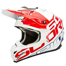 SCORPION vx-15 EVO AIR GRID CASCO CROSS - nácar blanco rojo azul