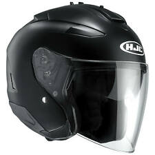 HJC IS-33 ii semi plat moto Casque jet - Noir Mat