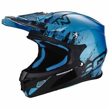 SCORPION vx-21 AIR mudirt MOTO CASCO DA CROSS - NERO BLU cieloazzurro CIELO