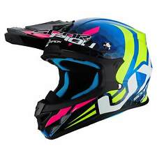 SCORPION vx-21 AIR Xagon MOTO CASCO DA CROSS - BLU GIALLO FLUO