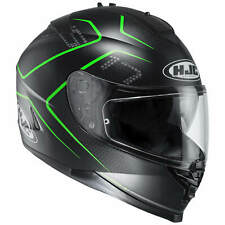 HJC IS-17 LANK CASCO MOTO TOURING - Nero Opaco Verde