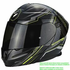SCORPION EXO-920 Satellite CASCO MOTO tirare Touring - NERO GIALLO FLUO