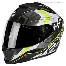 SCORPION exo-1400 AIR Trika CASCO MOTO TOURING - NERO BIANCO neon GE