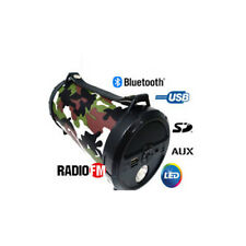 SUB CASSA PORTATILE CON RADIO FM SD USB BLUETOOTH MP3 SMARTPHONE  TABLET PC