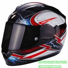 SCORPION exo-1200 Air fulgur Casco de moto integral Touring - Negro Blanco Rojo