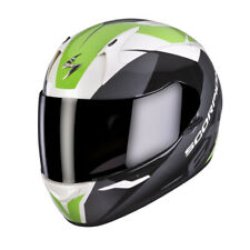 SCORPION exo-410 AIR SLICER CASCO INTEGRAL - Blanco y Negro Verde