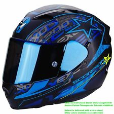 SCORPION exo-1200 Air SOLIS Casco de moto integral Touring - Mate Negro Azul