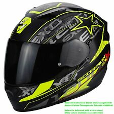 SCORPION exo-1200 Air SOLIS Casco de moto integral Touring - Mate Negro Neon GE