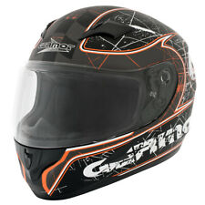 GERMOT GM 305 CASCO INTEGRALE - SATINATO NERO ARANCIONE