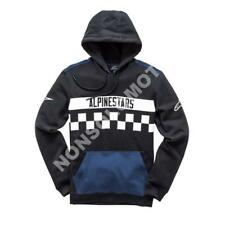 Felpa Fleece Cotone Uomo Moto, Cross, Quad, Enduro Alpinestars National Nero