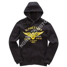 Felpa Fleece Cotone Uomo Moto, Cross, Quad, Enduro Alpinestars Wings Nero