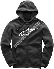 Felpa Fleece Cotone Uomo Moto, Cross, Quad, Enduro Alpinestars Ageless Nero