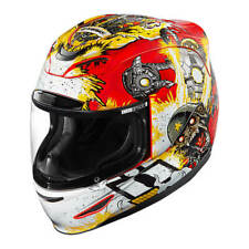 ICON AIRMADA Monkey Business CASCO INTEGRALE DA MOTO SPORT POLICARBONATO - Rosso