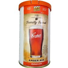"""Coopers Home Brew Premium Beer Making Kit """"FAMILY SECRET AMBER ALE"""" 40 pints"""