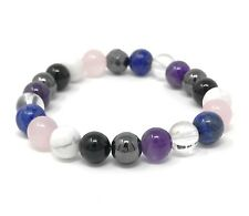 Migraine Power Bead Bracelet - Headache Crystals - Healing Gemstones Size Choice