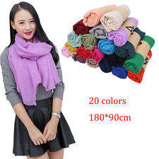 Fashion Classic Scarves Lady Women Long soft cotton Scarf Wrap Shawl Stole