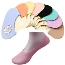 5 / 6 Pairs of Womens / Girls Invisible Footsies Socks Shoe Liners UK Size 2 - 5