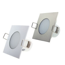 KHEBANG Foco Downlight LED 5W  Empotrable Cuadrado Impermeable IP54 Para Baño