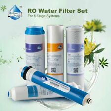 5pc Home Reverse Osmosis Water System Filters 5 Stage 50GPD Kill Virus&Fluoride