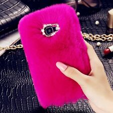 Fur Cute Fluffy Faux FUR Shockproof Cover Case For Samsung Galaxy S8 S8+ S7 Edge