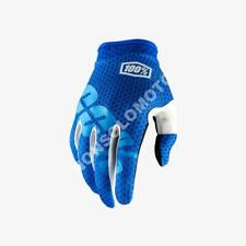 Guanti Gloves Tessuto Bimbo Youth Moto Cross Quad Enduro Scooter 100% iTrack Blu