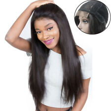 """Brazilian Remy Human Hair Glueless Lace Front Wig Straight Virgin 4x4"""" Lace Wigs"""