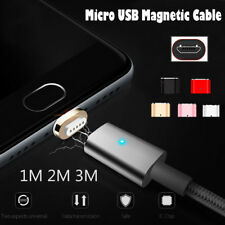 1M 2M 3M Magnetic LED Micro USB Fast Charging Charger Cable for Android Samsung