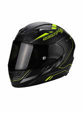 CASCO MOTO INTEGRALE FIBRA SCORPION EXO 2000 AIR CUP NERO OPACO GIALLO FLUO