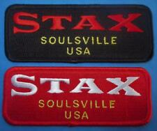 NORTHERN SOUL PATCH - STAX SOULSVILLE USA - BLACK OR RED