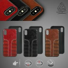 Dual Tone Leather Case Back Slim Cover Protective Durable High Quality Designer