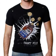REDBRIDGE BY CIPO & Baxx Party Camiseta Hombre r-1535 Negro