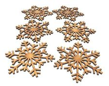 Premium Wooden MDF Snowflake craft decoration, Christmas gift, embellishment