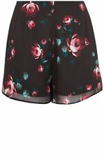 PRIMARK BEAUTY AND THE BEAST ROSE FLOWER FLORAL PRINT CHIFFON SHORTS UK 6 8 XS