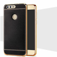 LEATHER TEXTURE Case Huawei P9 P10 Soft NAPA Grain Pattern TPU Shockproof Cover