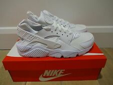NIKE AIR HUARACHE RUN - TRIPLE WHITE *BNIB* UK SIZE 9 - NON MESH