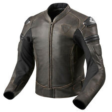 REV'IT! AKIRA VINTAGE giubbotto moto in pelle da uomo Sport - marrone scuro