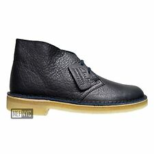 Clarks Originals Desert Boot Men's Casual Tumbled Leather Shoes Navy Blue