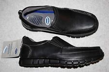 Mensl Casual Shoes BLACK DR SCHOLL'S LOAFERS Slip On 7 8 8.5 9 9.5 10 10.5