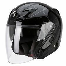 CASQUES CASQUE HELMET JET OUVERT MOTO SCOOTER QUAD SCORPION EXO 220 AIR ION NOIR